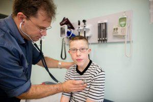 Dr. Bennett treating patient