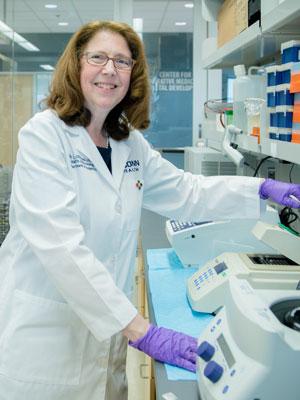 Dr. Germain-Lee in research lab