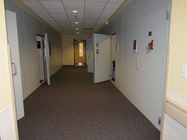 Sound booth hallway