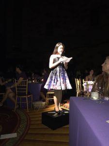 annelise delivering her speech