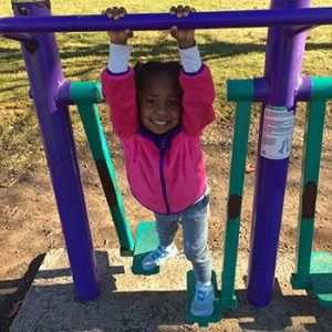 Lily enjoying the playground – Fall 2016