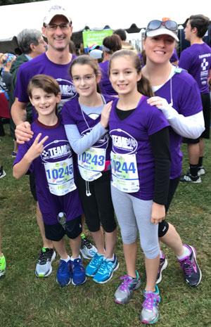 Team participating in Eversource Hartford Marathon