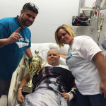 patient armani and his parents at the hospital