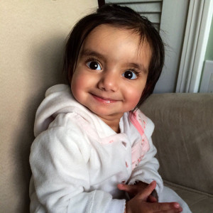 Siaana in the weeks following open-heart surgery at Connecticut Children's.