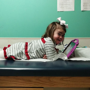 Cecelia during treatment