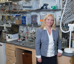 Christine Finck, MD FACS in her regenerative medicine and tissue engineering laboratory.