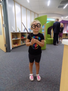 Child celebrating Harry Potter's Birthday