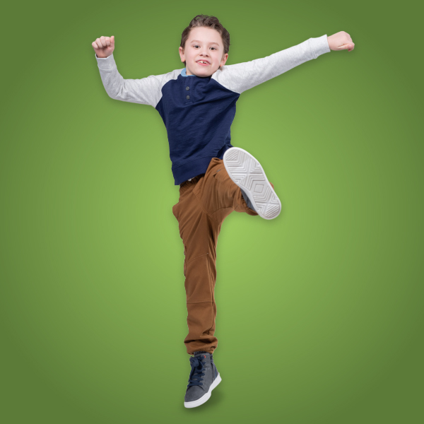 Guthrie, a nephrology patient, jumps in the air