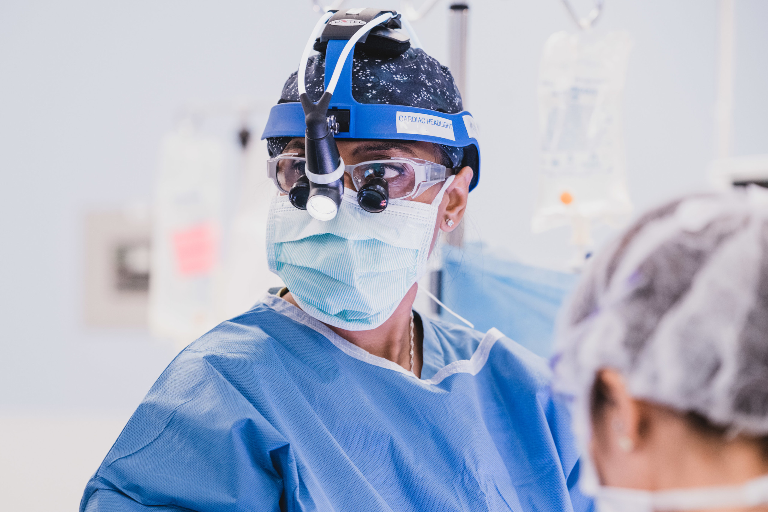 Raina Sinha, MD, performs surgery