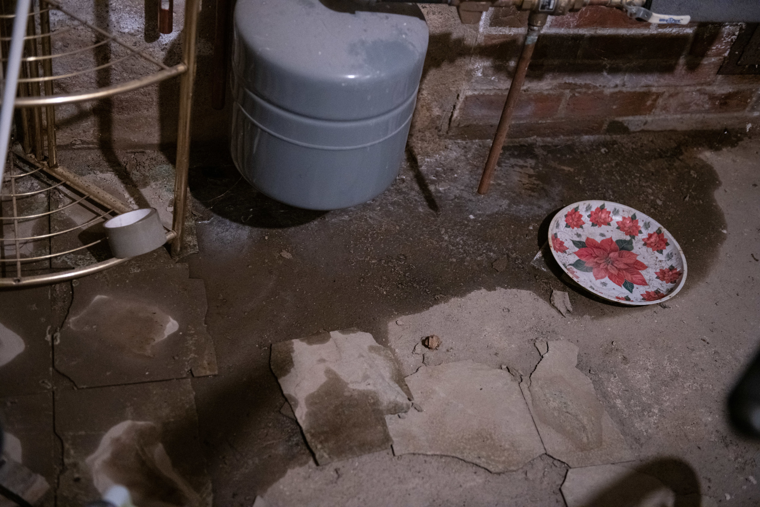 Basement of the Baileys home had mold and water damage
