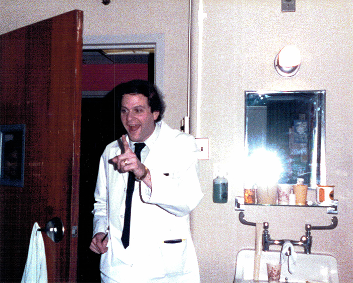 Dr. Jeffrey Hyams when he first took care of John Hoffman nearly four decades ago