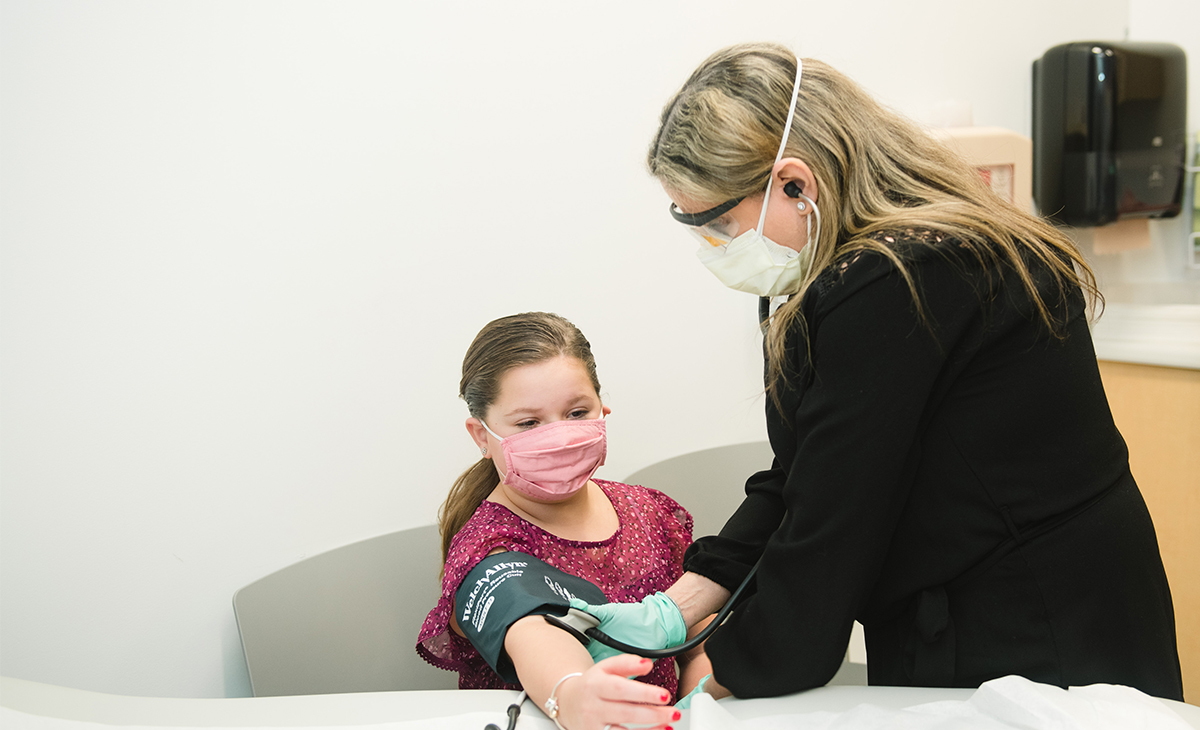 Robyn Matloff, MD, with Morgan, one of her patients