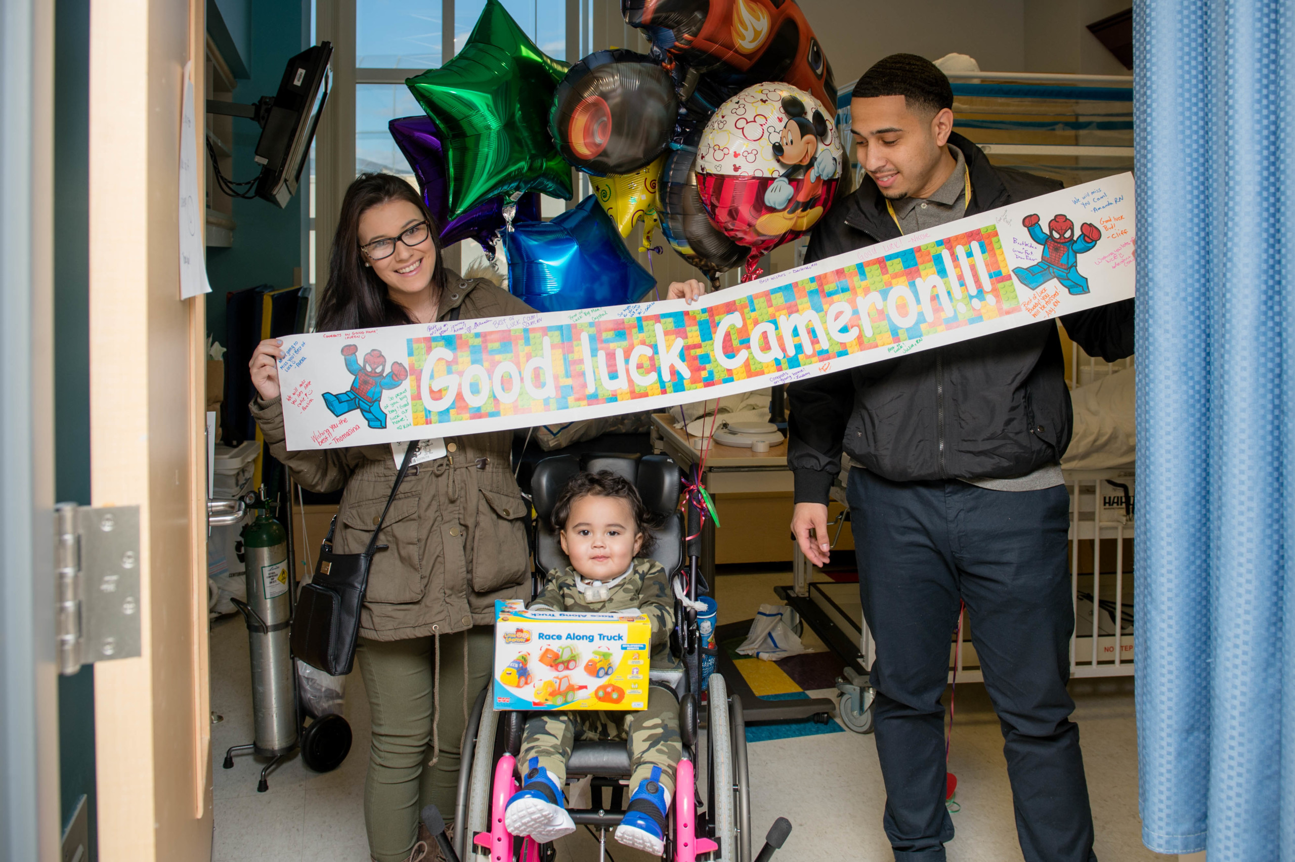 Cameron Soto on the day he left the hospital following a two-month stay after swallowing a lithium ion battery