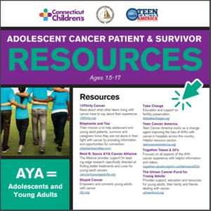 Adolescent Cancer Patient & Survivor Resources brochure cover