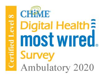 chime digital most wired survey ambulatory 2020 award