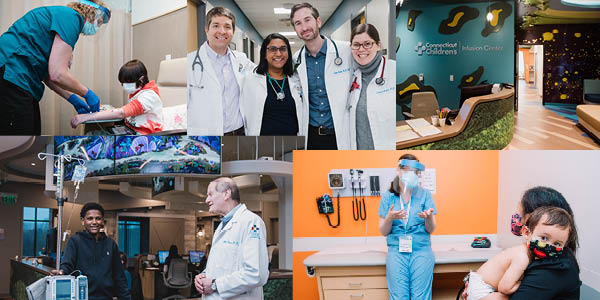 collage of photos from GI including providers and patients