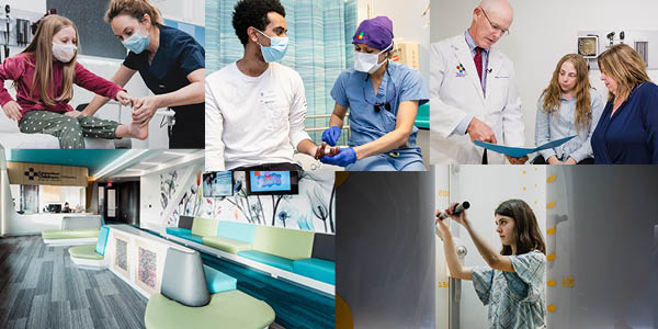 collage of photos from orthopedics including patients and providers