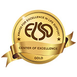 Logo for 2021-2023 Extracorporeal Life Support Organization (ELSO) Gold Level Center of Excellence