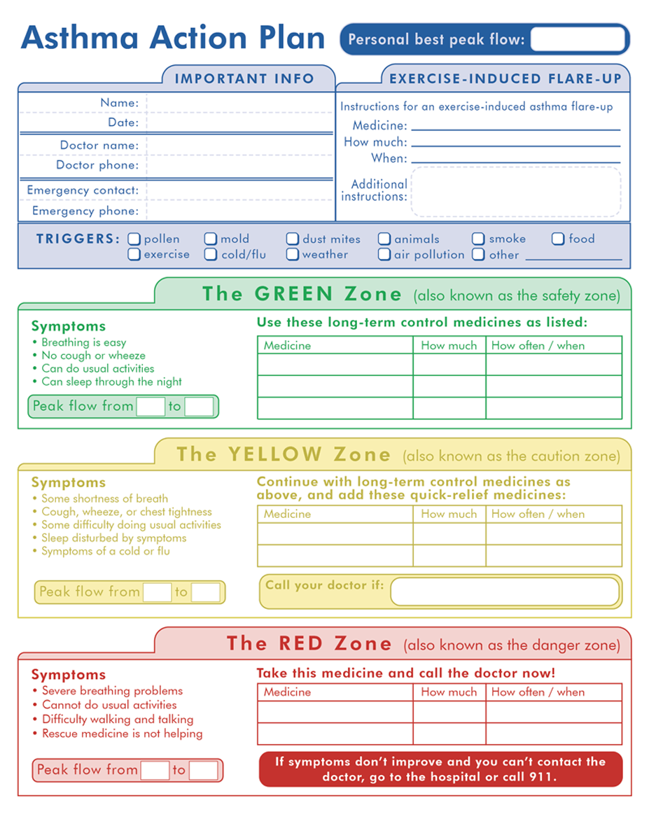 11+ Printable Asthma Action Plan Examples - PDF